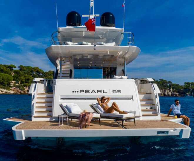 Pearl 95 by Pearl Yachts, which has partnered NextWave in Hong Kong