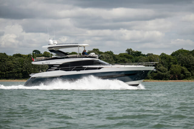 Fairline's flagship Squadron 68 was completed at the company's new south-coast facility near Southampton; the second hull will head to Hong Kong