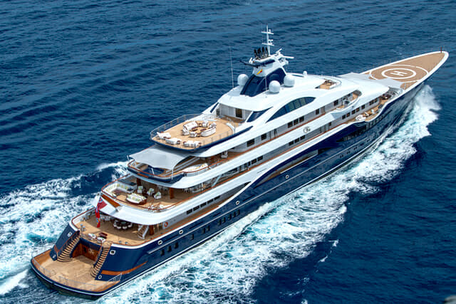 The 111m Tis is among several enormous Lurssen builds at this year's Monaco Yacht Show