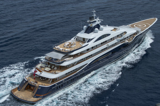 The 111m Tis by Lurssen is set to be the longest-ever yacht to show at Monaco