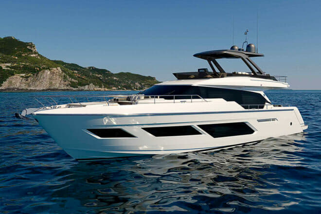 The Ferretti Yachts 720 is the Italian builder's first new model since the 670 launched at last year's Cannes Yachting Festival