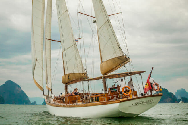 The 95ft sailing yacht Aventure will be among yachts on display at Yacht Haven