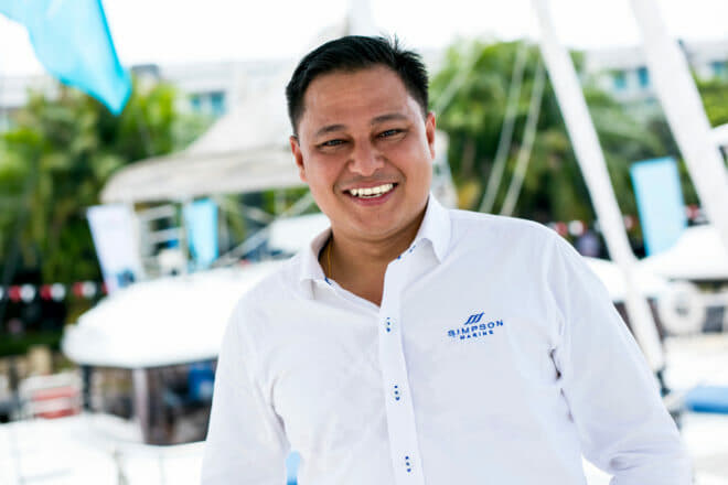 Simon Theseira has been working for Simpson Marine in Malaysia since 1998