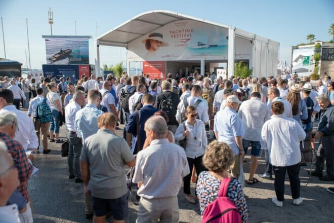 The 42nd Cannes Yachting Festival attracted a record 54,000 visitors, despite the first day being a virtual wash-out due to rain