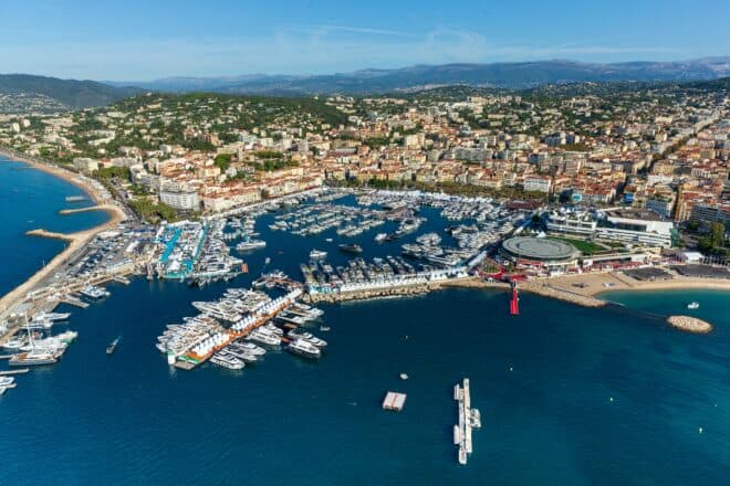 Aside from a few resident sailing boats, the Vieux Port was all motor yachts