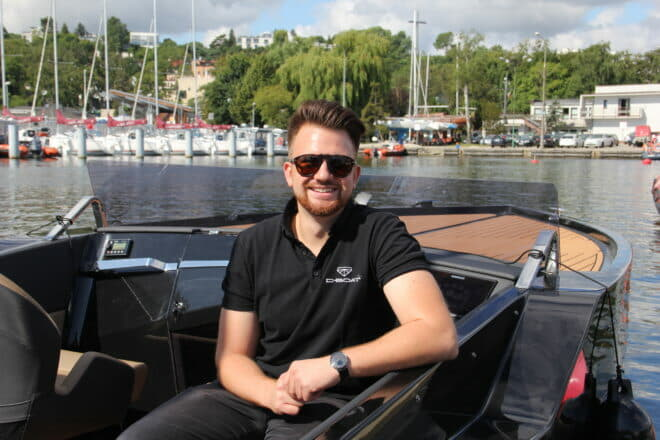 D-Boat CEO Szymon Zielinski co-founded the company in Poland when he was 26 - and is also a DJ