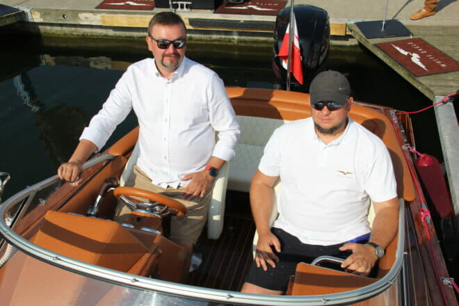 Brothers Artur and Rafal Osipowicz founded White Eagle in 2015 and exhibited their 6.3m wooden Eagle One in Gdynia, Poland