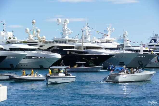The show was awash with small-boat activity, with shuttles transferring visitors around the port and private tenders serving individual yachts