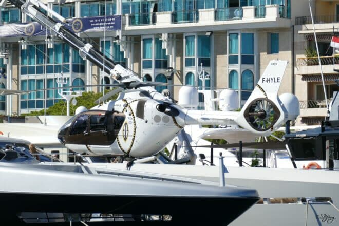helicopters underlined why the show is 'The World's Leading Superyacht Event'