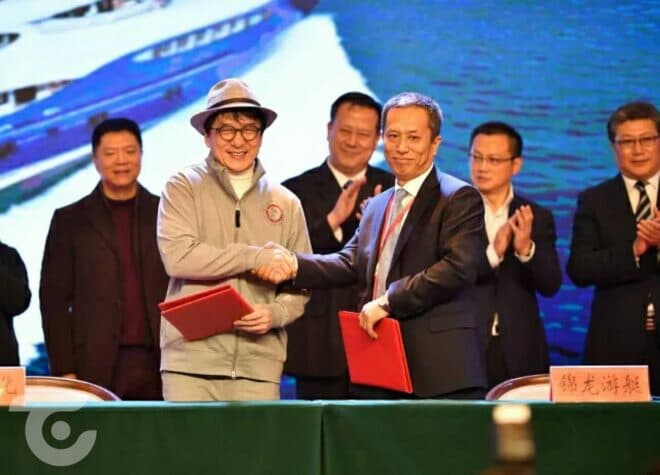 Movie star Jackie Chan signed with Jinlong for a 46m superyacht