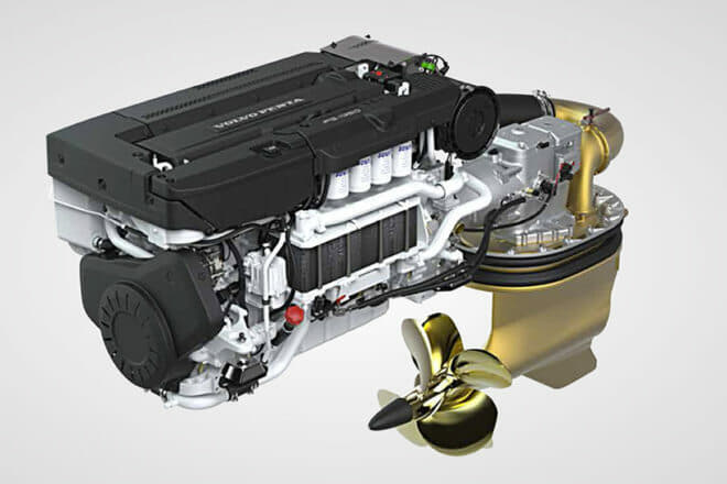Settantotto features Volvo Penta D13-IPS1350 engines, the most powerful in the IPS range