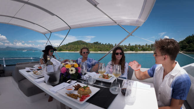 Galeon motor yachts are a popular charter option
