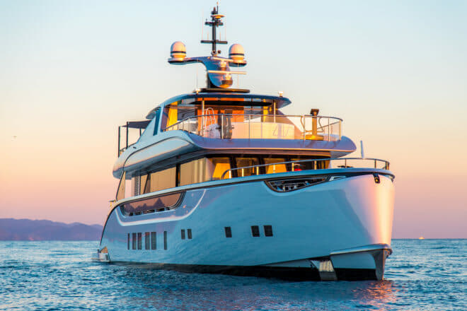 Dynamiq's first yacht was the 39m Jetsetter, which was sold to a British buyer and renamed Spring