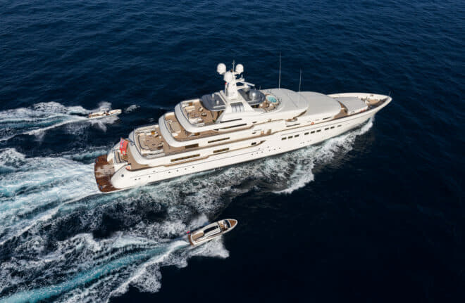 After several seasons cruising the Med and Caribbean, the 82m RoMEA is the latest charter yacht in Asia exclusively available through Imperial; Photos by Jeff Brown and Guillaume Plisson For Imperial