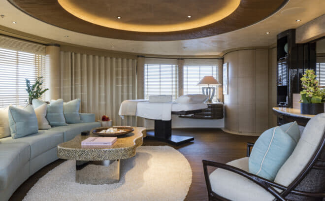 The gorgeous spa and massage salon is on the bridge deck, and provides a serene environment for rest and rejuvenation
