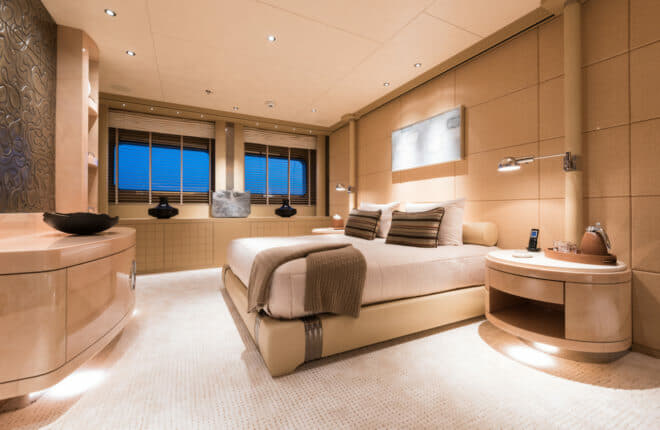 The VIP suite is one of six staterooms