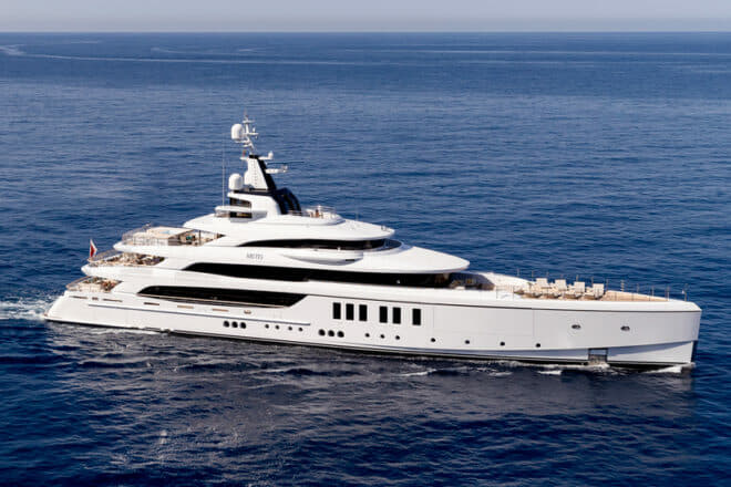 Benetti's 63m Metis debuted at the 2019 Monaco Yacht Show