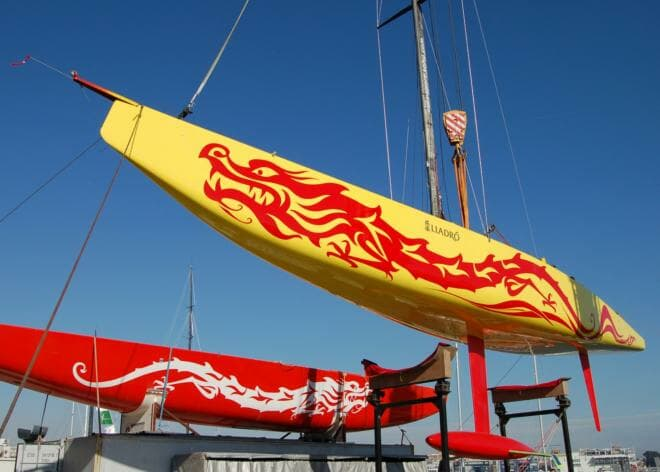 CHN 95 Longtze, China's first America's Cup-class yacht, ahead of the 2007 Louis Vuitton Cup in Valencia