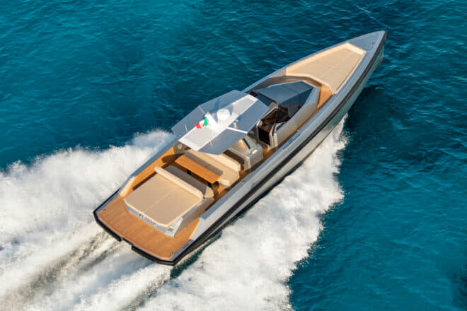 The 48 Wallytender had its world premiere at the Cannes Yachting Festival and its US debut at the Fort Lauderdale International Boat Show