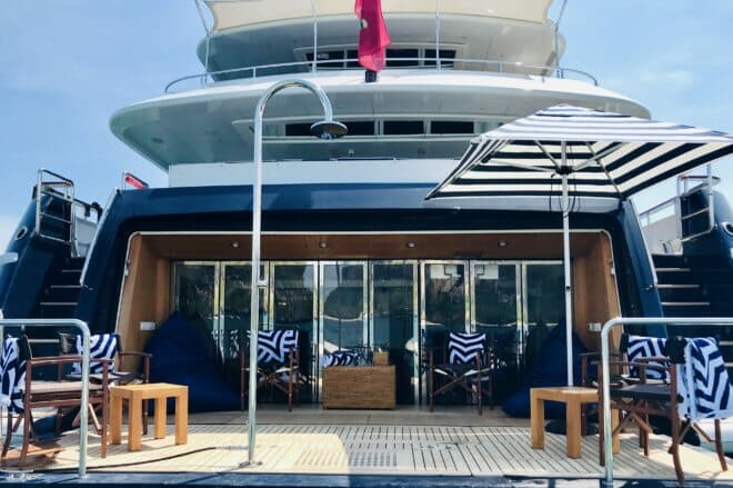 The 'new-look' Lady Azul features a spectacular beach club and new toys