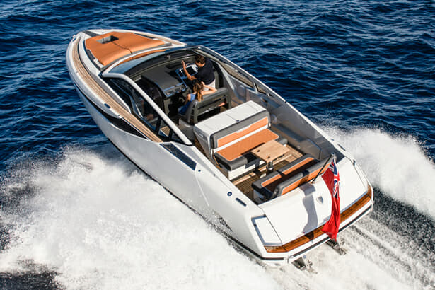 The F//Line 33 is Fairline's smallest and fastest boat