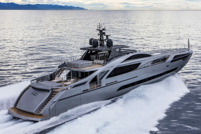 The first Pershing 140, Chorusline, now resides in Hong Kong