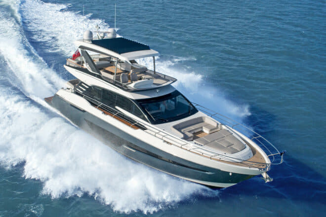 The Squadron 68 is Fairline's new flagship and could show in Singapore