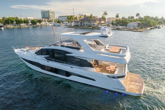 Galeon's new generation of yachts includes the 680 Fly