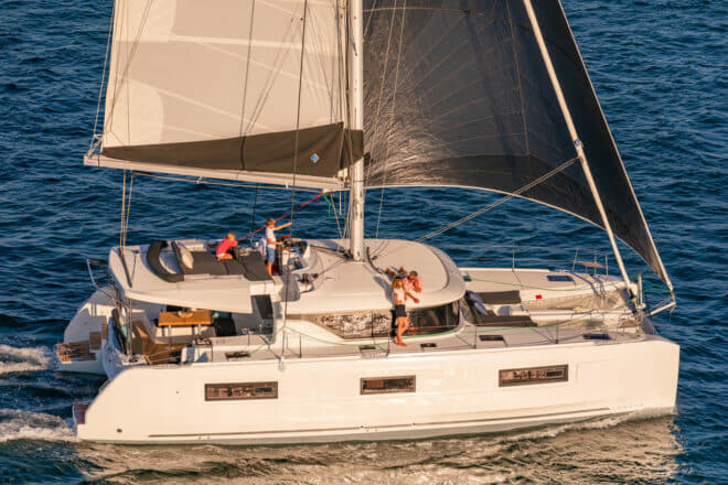 A Lagoon 46 is among a strong selection of catamarans in the line-up