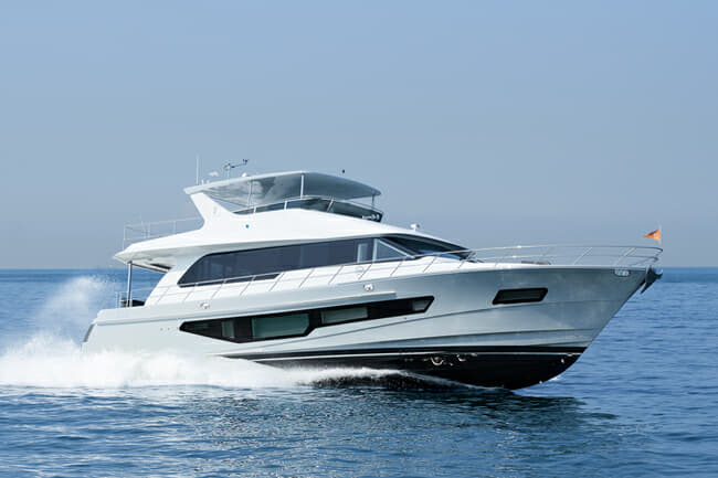 CL Yachts' most popular model so far, the CLB72 (hull three pictured in Hong Kong) was reviewed in Yacht Style Issue 50