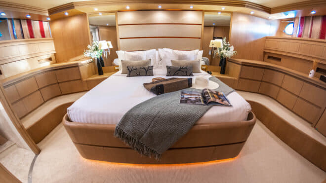 Thailand-based Aveline, chartered by Northrop & Johnson, offers two 'master cabins'
