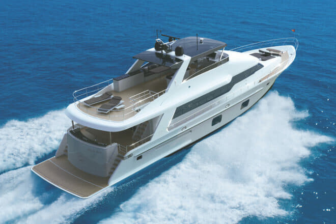 Designed by Jozeph Forakis, the first CLB88 is set to be shipped to the US and appear at the Newport (Sep 17-20) and Fort Lauderdale (Oct 28-Nov 1) shows