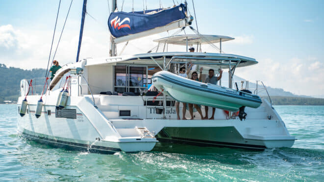 A Moorings 4800 was showcased at the first Thailand Charter Week last November