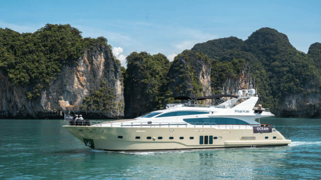 The 97ft Mia Kia built in Turkey by Bilgin is operated by Ocean Independence, Thailand