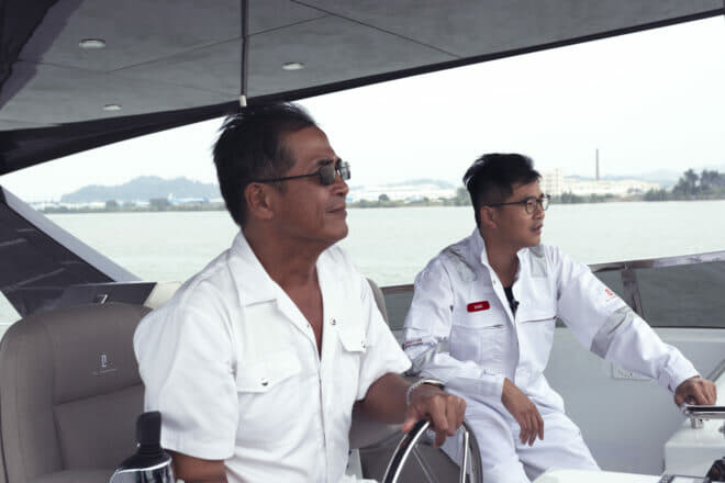 Martin Lo and Hans Lo, fourth and fifth-generations members respectively of the Lo family that has owned Cheoy Lee since the late 19th century