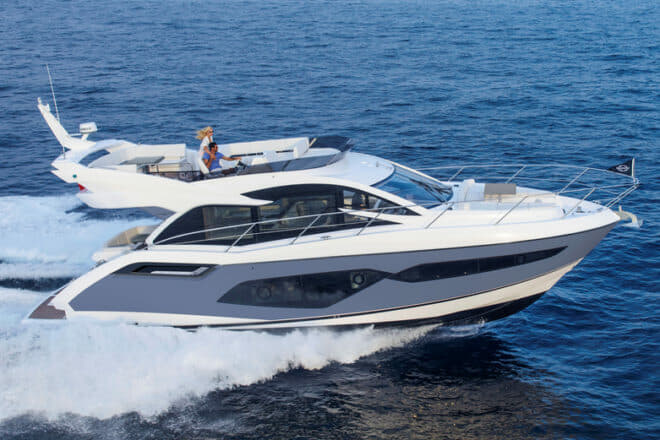 The Sunseeker Manhattan 55 will show at both Cannes and Southampton in September