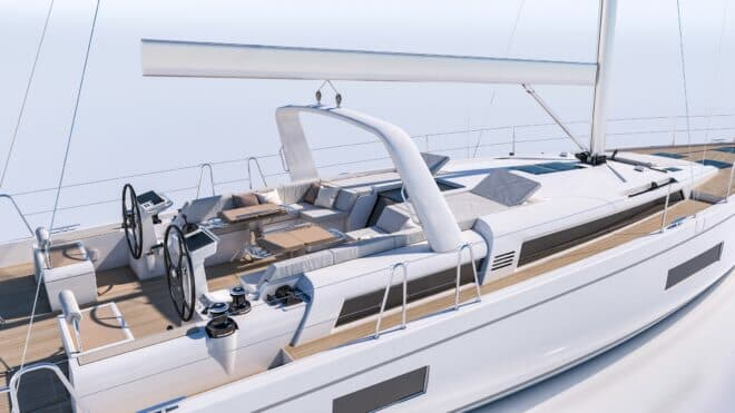 The Oceanis Yacht 54 joins the 62 among Beneteau's larger sailing yachts