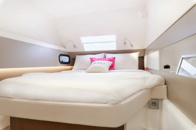 All the double cabins benefit from plenty of natural light
