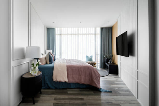 The Edge @ Cairhhill - bedroom designed by The Scientist Pte Ltd.