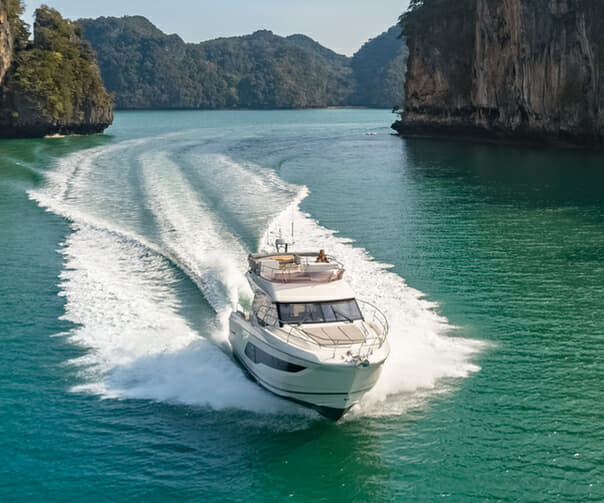 The Prestige 420 had its Asia debut at this year's Thailand Yacht Show