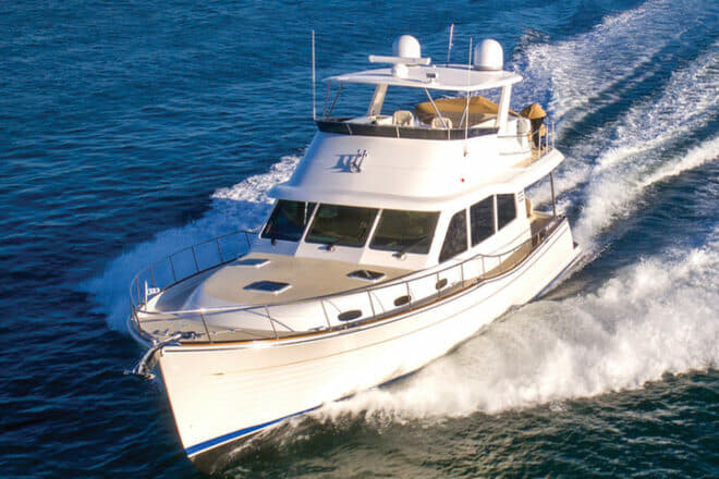The Grand Banks 54 is the first new model from the yard since the GB60 Skylounge