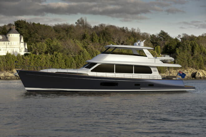 The Grand Banks 85 is scheduled for completion by year-end