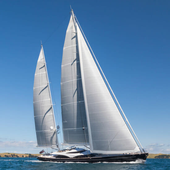 The 57m Twizzle; large sailing yachts are making a comeback according to Camper & Nicholsons