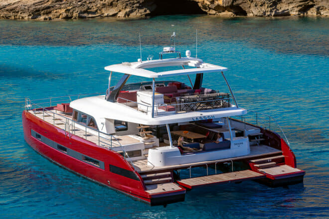 The Sixty 7 features a large covered cockpit that connects to well protected, wide side decks and the attractive flybridge