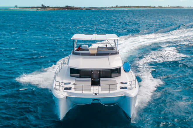 The Leopard 53 PC reaches 25 knots with twin 370hp Yanmar engines