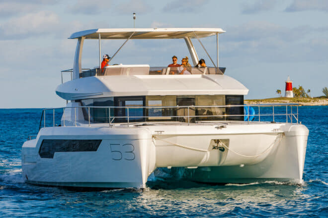 The Leopard 53 PC debuted in Miami and hull three is now in Singapore