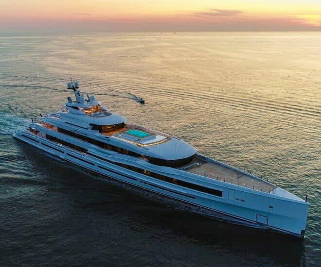 The 107m Benetti Lana has joined Imperial's charter fleet; Photos: Benetti / Imperial