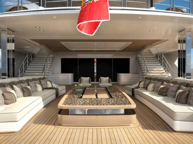 The aft area on the main deck