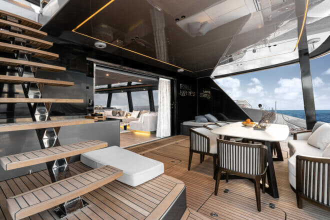The Sunreef 80 Double Happiness was built for a Chinese owner