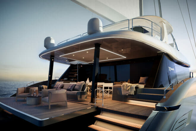 The upcoming Sunreef 70 completes a new range also including the 50, 60 and flagship 80